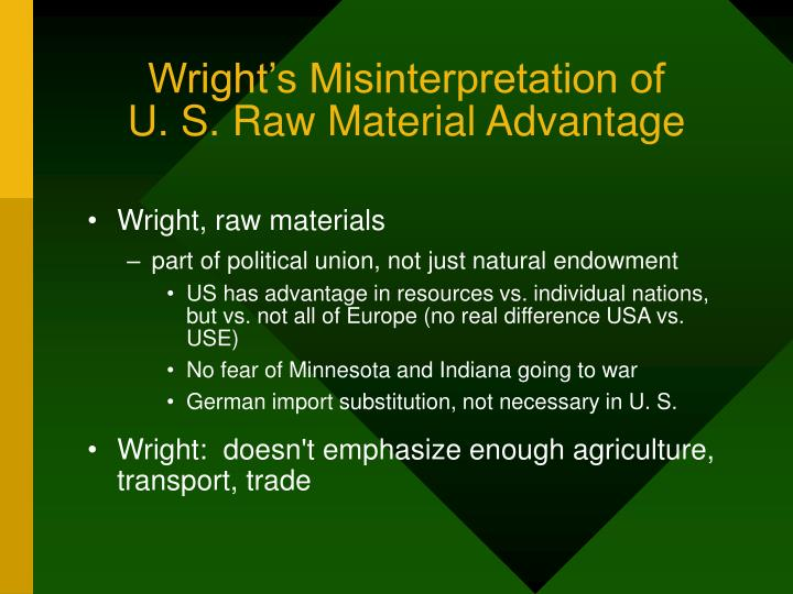 Wright's Misinterpretation of