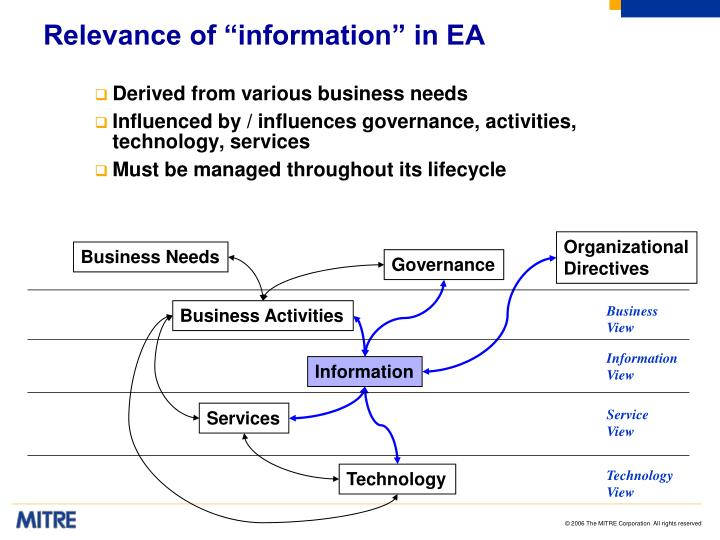"""Relevance of """"information"""" in EA"""