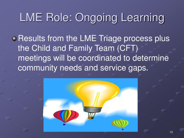 LME Role: Ongoing Learning
