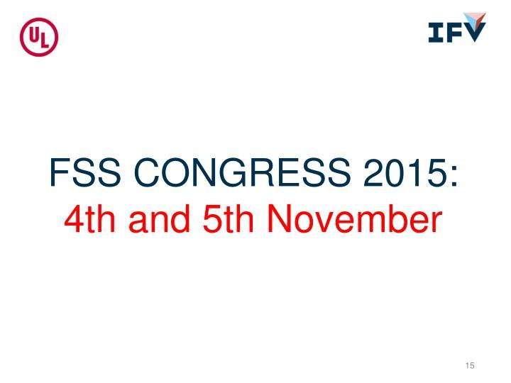 FSS CONGRESS 2015:
