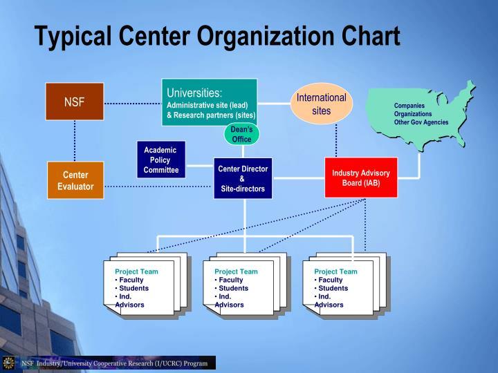Typical Center Organization Chart
