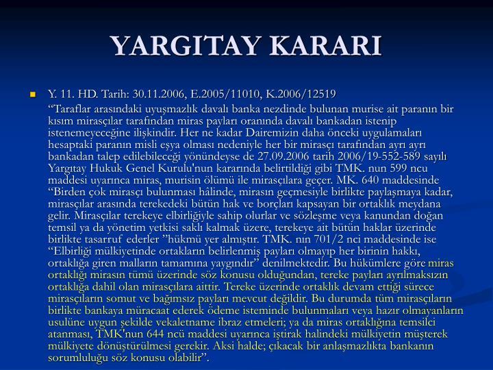 YARGITAY KARARI