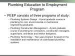 plumbing education to employment program1
