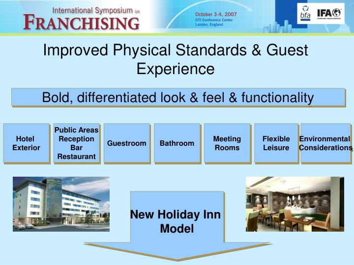 Improved Physical Standards & Guest Experience