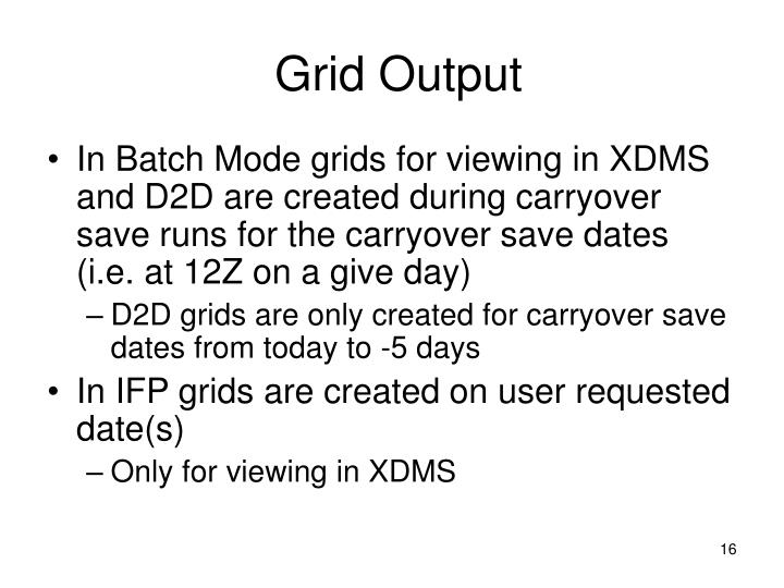 Grid Output