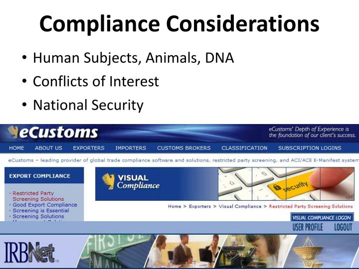 Compliance Considerations