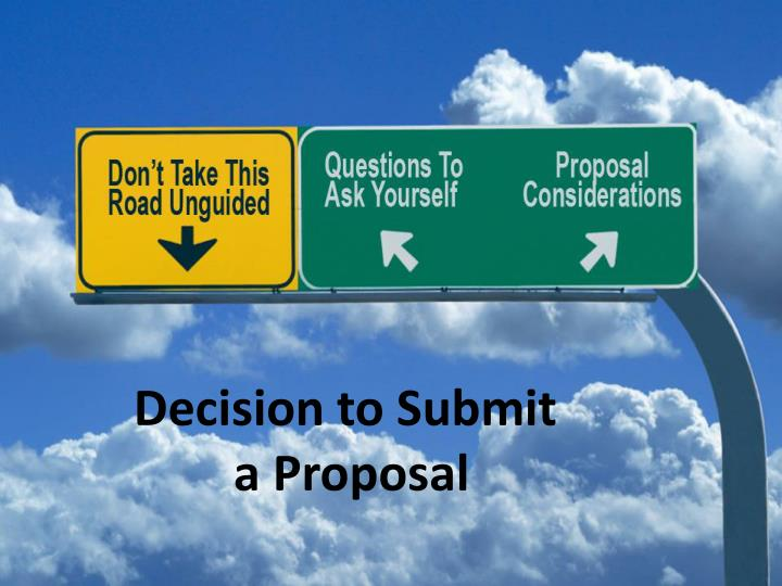 Decision to Submit