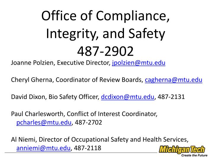 Office of Compliance,