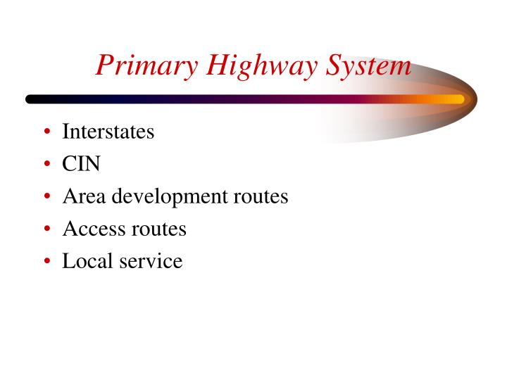 Primary Highway System