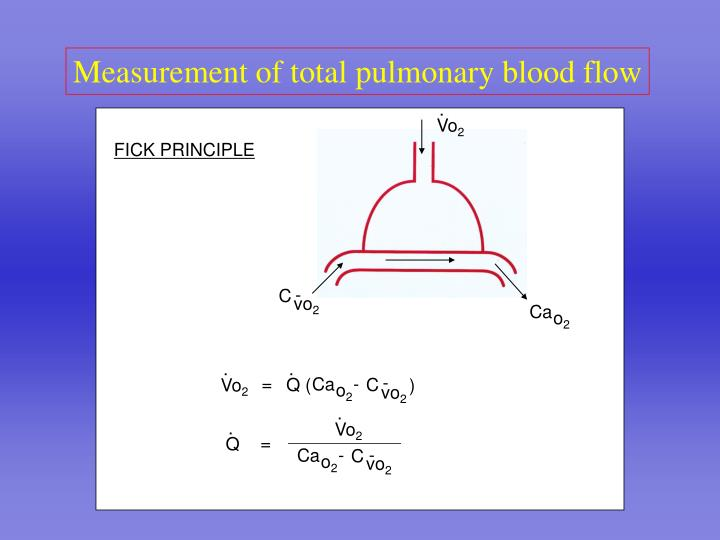 Measurement of total pulmonary blood flow