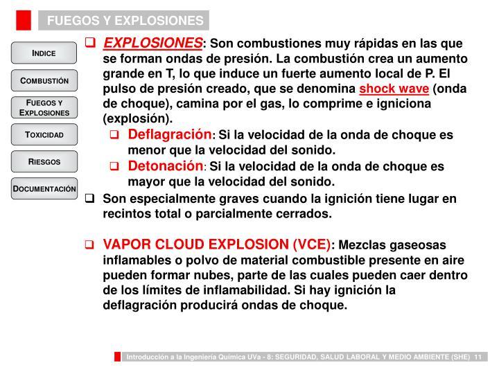 FUEGOS Y EXPLOSIONES