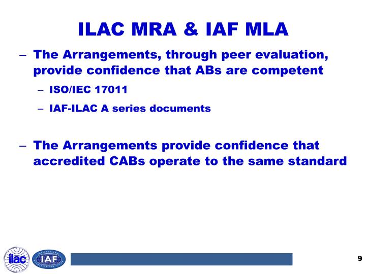 ILAC MRA & IAF MLA