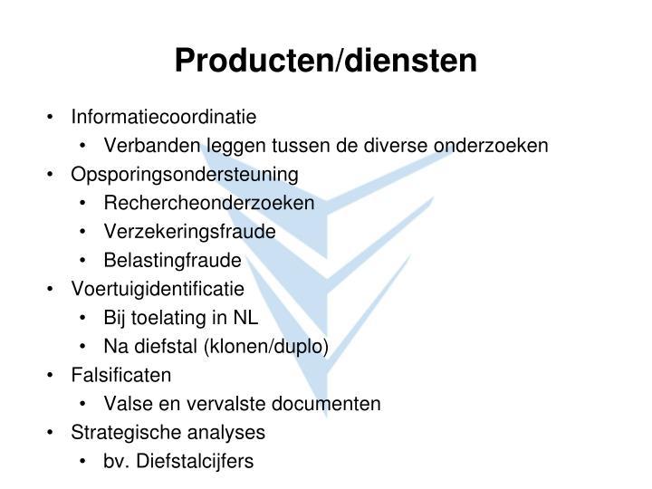 Producten/diensten