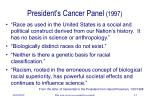 president s cancer panel 1997