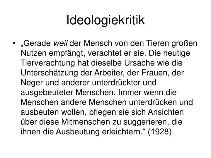 Ideologiekritik