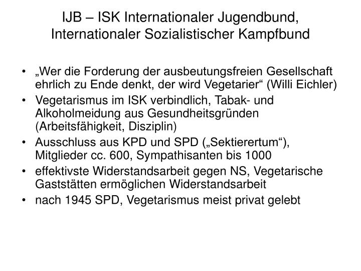 IJB – ISK Internationaler Jugendbund, Internationaler Sozialistischer Kampfbund