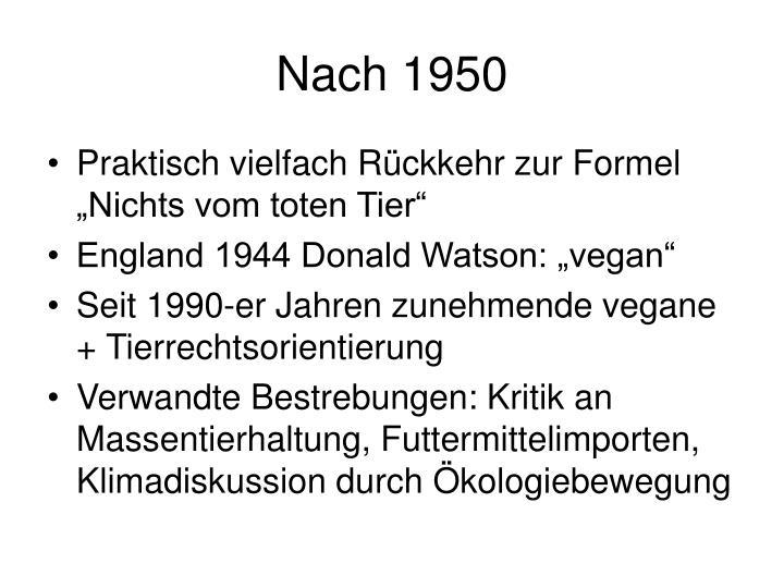 Nach 1950