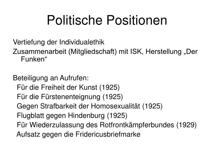 Politische Positionen