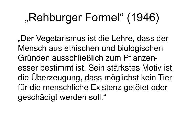 """Rehburger Formel"" (1946)"