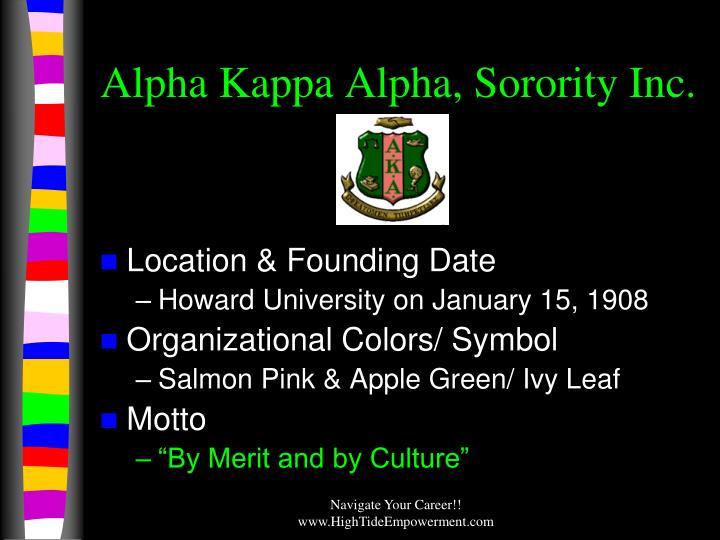 Alpha Kappa Alpha, Sorority Inc.