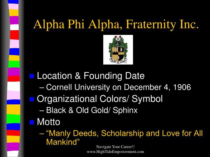 Alpha Phi Alpha, Fraternity Inc.