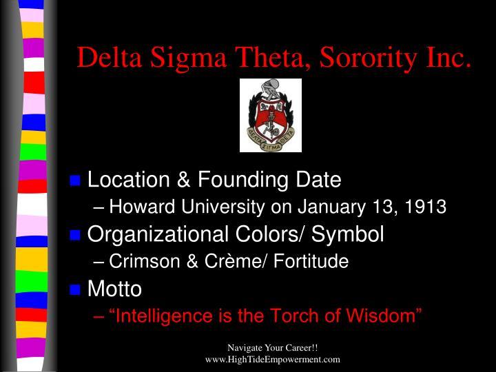 Delta Sigma Theta, Sorority Inc.