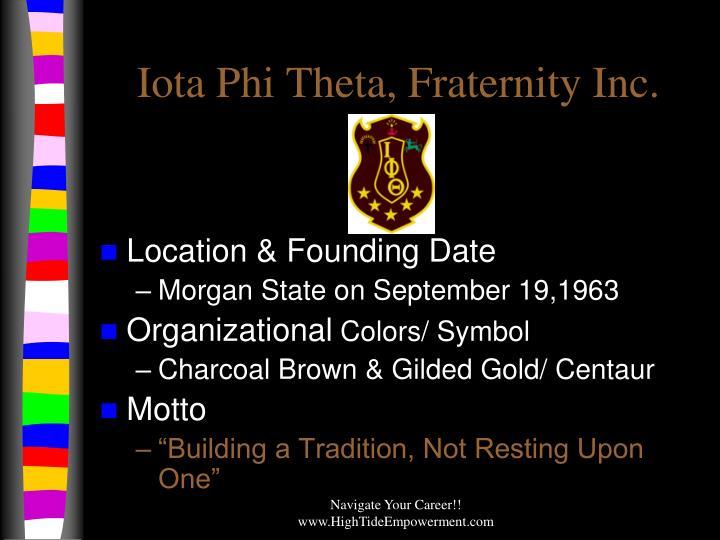 Iota Phi Theta, Fraternity Inc.