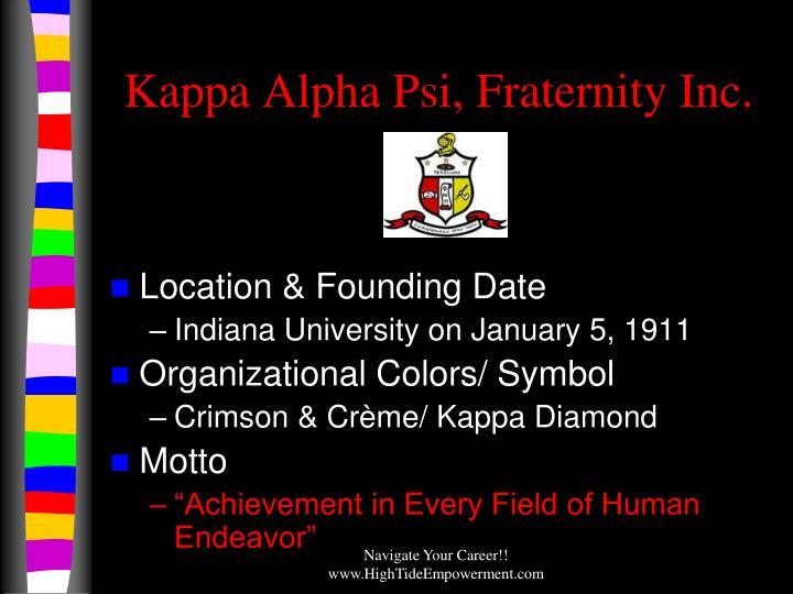 Kappa Alpha Psi, Fraternity Inc.