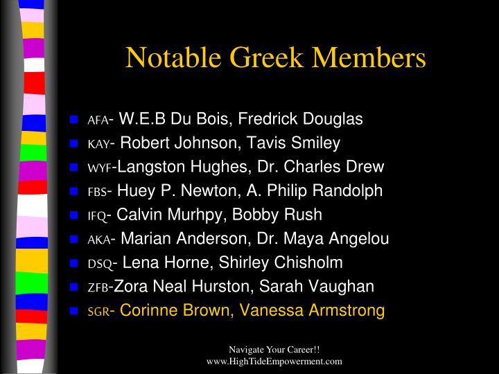 Notable Greek Members