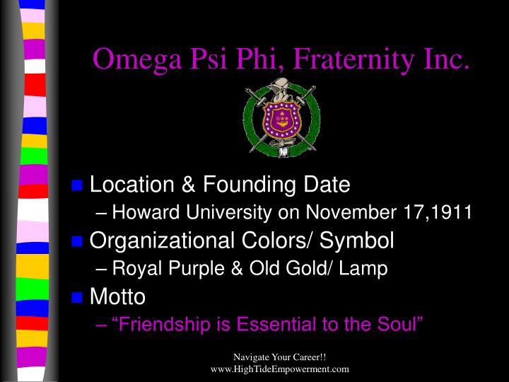 Omega Psi Phi, Fraternity Inc.