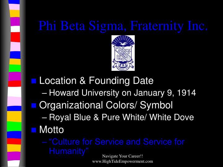 Phi Beta Sigma, Fraternity Inc.