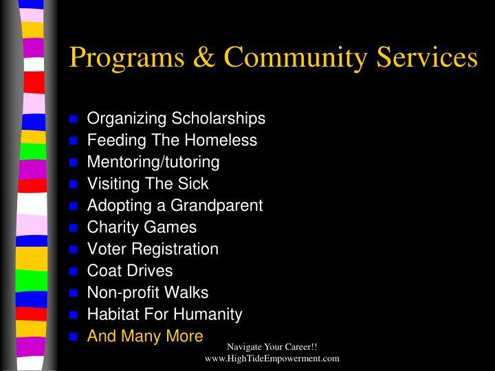 Programs & Community Services