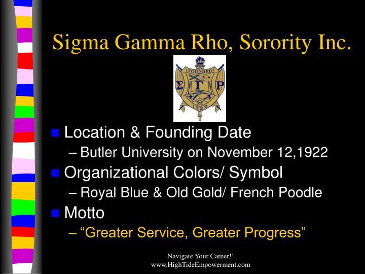 Sigma Gamma Rho, Sorority Inc.