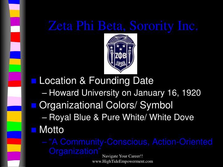 Zeta Phi Beta, Sorority Inc.