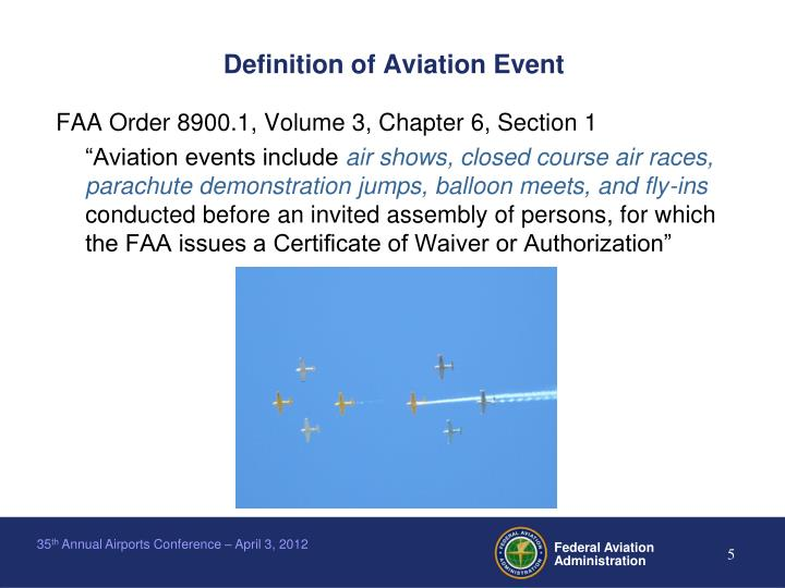 Definition of Aviation Event