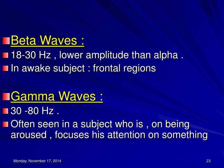 Beta Waves :