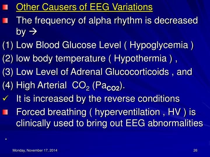 Other Causers of EEG Variations
