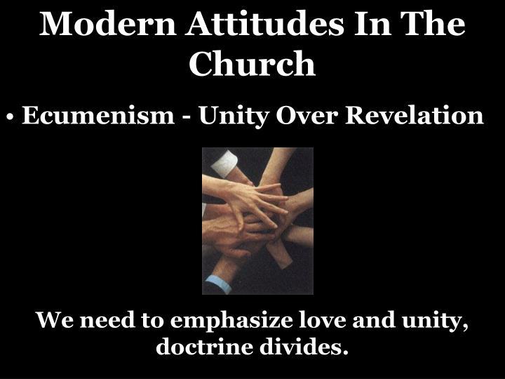 Modern Attitudes In The Church