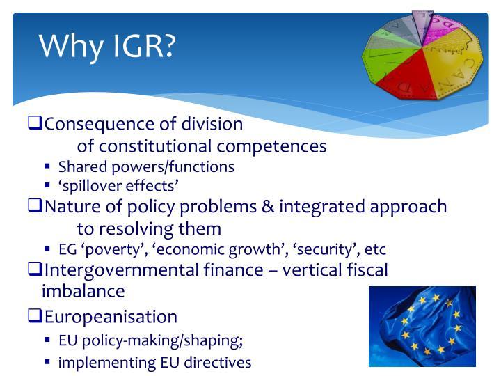 Why IGR?