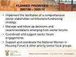 planned priorities 2007 08 2009 103