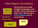 class diagram conventions