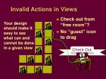 invalid actions in views