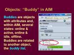 objects buddy in aim