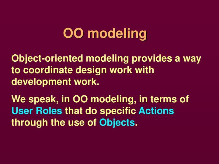 OO modeling