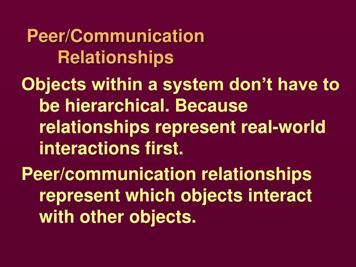 Peer/Communication Relationships