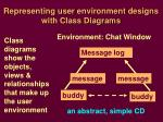 representing user environment designs with class diagrams