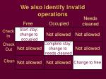 we also identify invalid operations