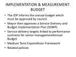 implementation measurement budget