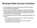 municipal public accounts committee