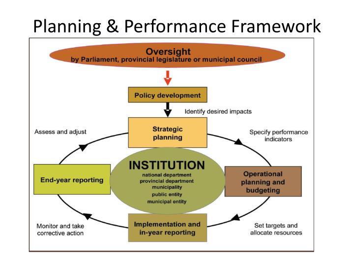 Planning & Performance Framework